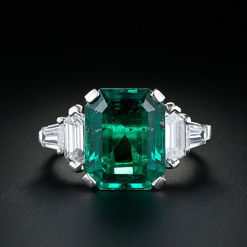 5.11 cts Vintage Emerald Ring 38,700.. (for when I win the Lotto)
