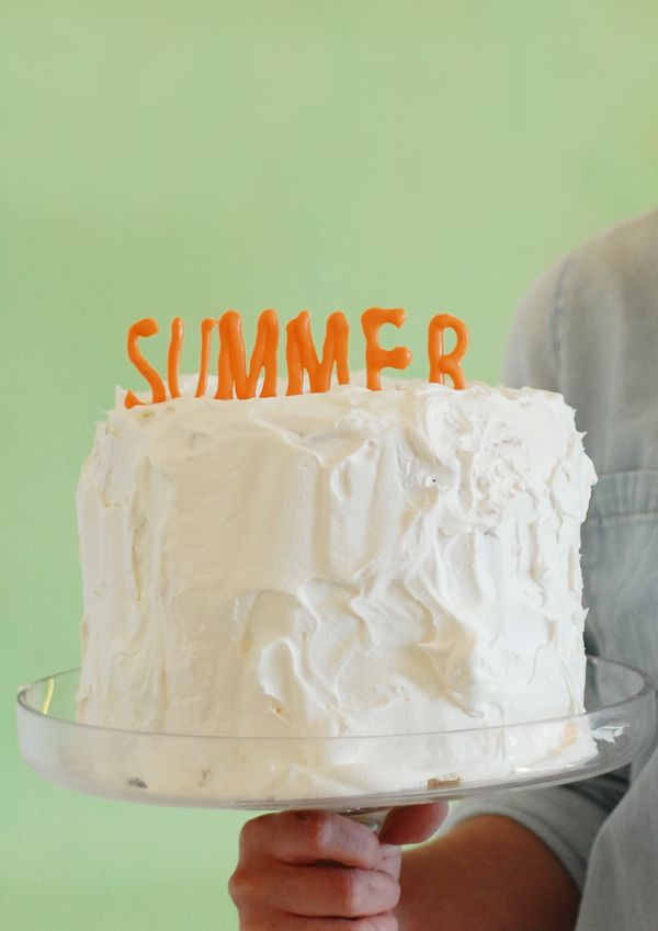 SUMMER! Colored chocolate letter cake topper