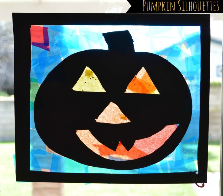 pumpkin crafts for kids pumpkin silhouettes - Halloween Simple Crafts