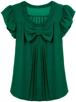 emerald green things | emerald green blouse--love the girlie look of ... | LAZOS Llego ...