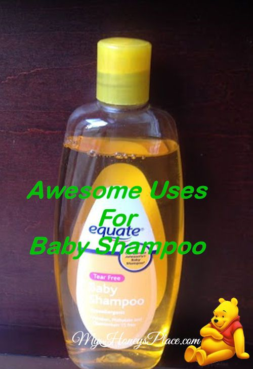 •Dip a q-tip in baby shampoo and rub it on the stuck spot of a zipper. •Clean leather shoes, coats and purses. Just a dab on a soft cloth. •Mix it with a little baking soda and use it to clean chrome. •Put a drop on a damp cotton ball to remove eye makeup, then rinse. •Use a little baby shampoo on legs and underarms for a smooth and soft shave. •Rub a little baby shampoo around a collar as a pre-wash to get rid of ring around of the collar. •Use as a pet shampoo.