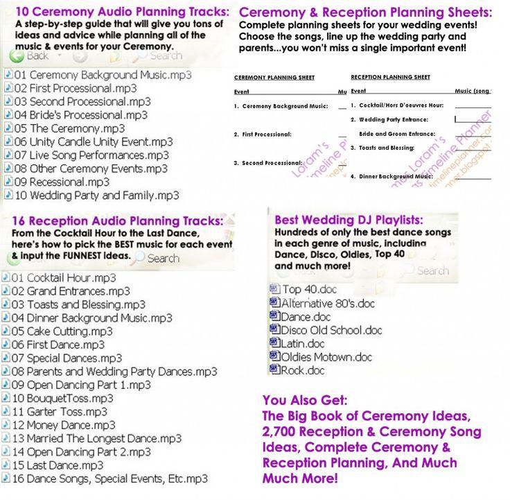 Wedding+Ceremony+Reception+Timeline   ... wedding ideas, best wedding reception, reception planning, ceremony