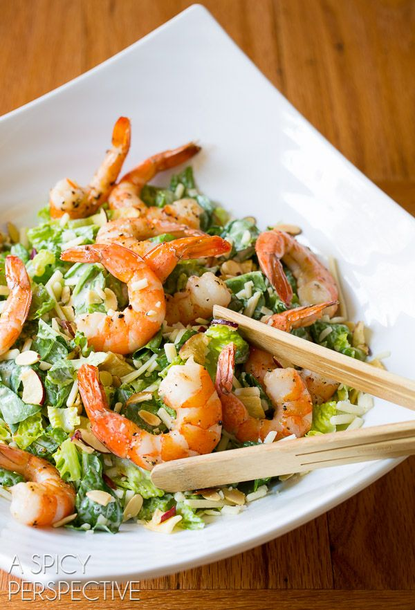 Fresh Roasted Shrimp Salad with Buttermilk Dressing