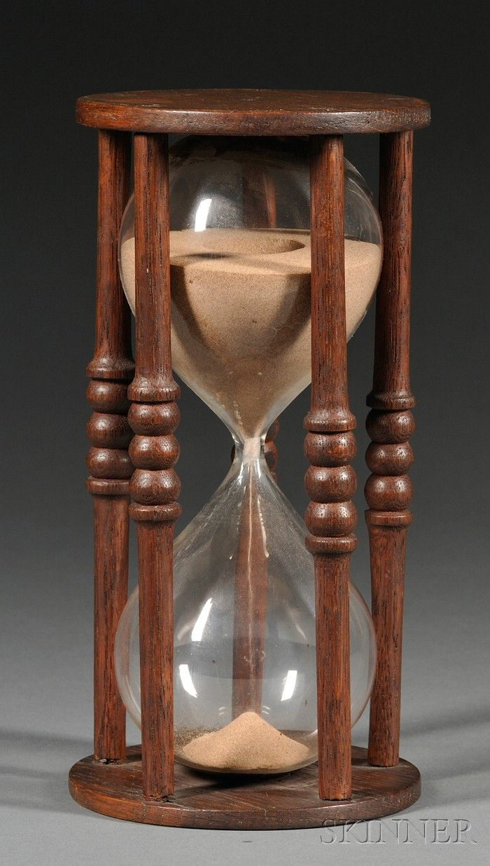 18th century antique hourglass......most of these come from England.... http://www.skinnerinc.com/full/172/860172.jpg