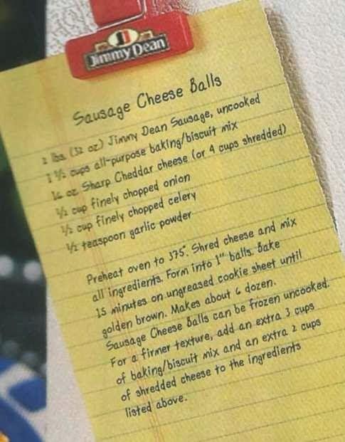 Jimmy Dean sausage balls