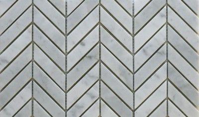 26784 Chevron Bianco Carrara