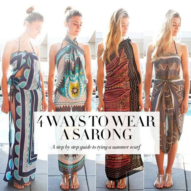 4 Ways To Wear A Sarong Mauritius Here We Come Pinterest Sarongs