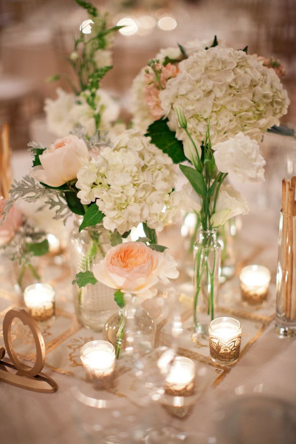 sparkling candlelight and romantic florals. total ballroom perfection  Photography by http://mthreestudio.com, Wedding Day Coordination by http://downtodetailsevents.com, Floral Design by http://marykaysflowersandgifts.net: Style, Color, Wedding Ideas, Weddings, Wedding Flowers, Table, Centerpieces, Center Piece, Floral