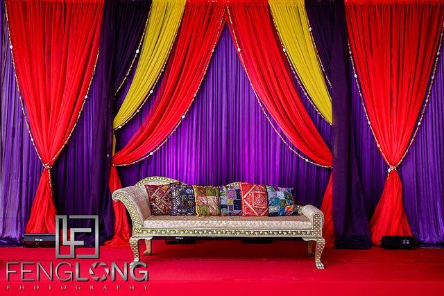Indian wedding stage, Pithi ceremony, Ismaili Muslim wedding in Atlanta, Georgia