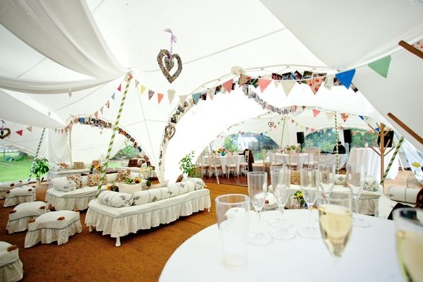 Wedding Decorations Inside Marquee