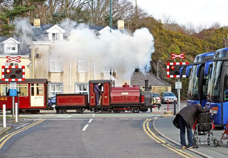Prince approaching Harbour Station, Porthmadog