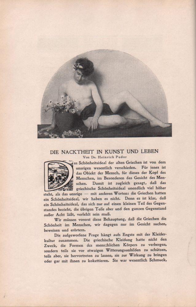 Der Eigene. Ein Buch für Kunst u[nd]. männliche Kultur. Band VI.