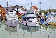 Moored at Woodbridge - Jake Winkle ~Watercolors
