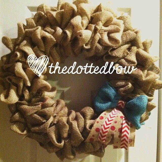1 wreath 2 sides OMG!! Only one for sale at the Etsy store. Link in profile. #thedottedbow #tiedwithabow #flag #frontdoor #burlap #wreath #4ofjuly http://www.etsy.com/shop/thedottedbow