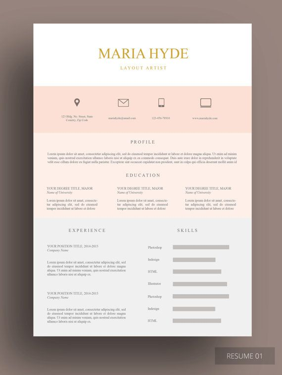 zimaphold resume this pink beige resume template oozes elegance resume template layout - Unique Resume Templates