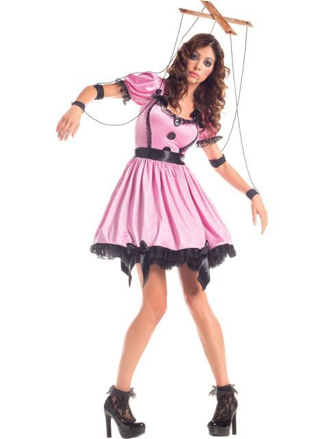 marionette costume again easy to make yourself use paint sticks in a cross - How To Make A Doll Costume For Halloween