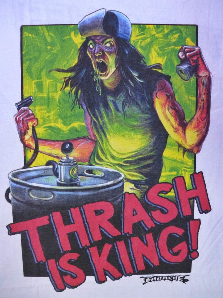 Thrash is king earache records thrash metal promo t-shirt. $55.00, via Etsy.