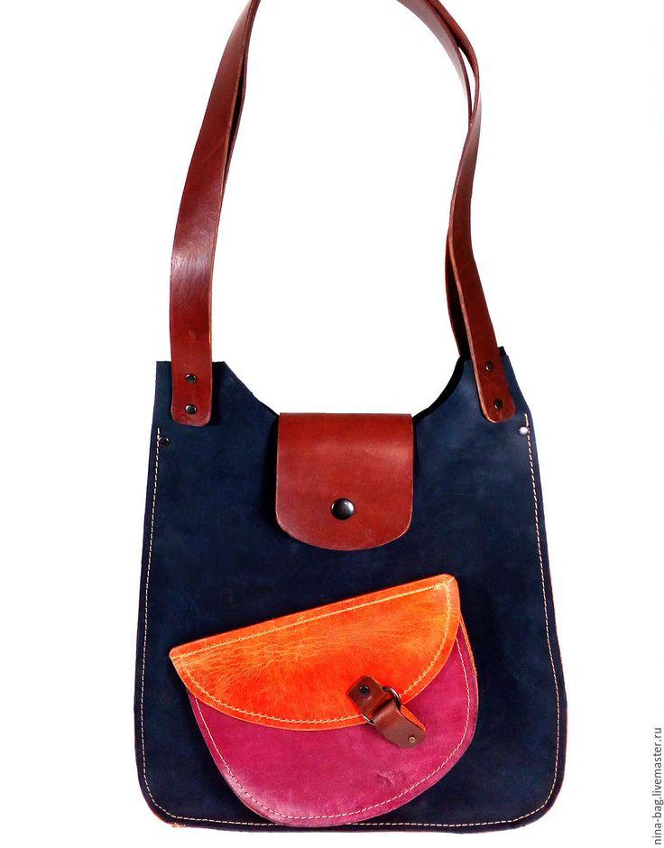 """Купить Сумка кожаная женская """"Крейзи"""" - Кожаная сумка, сумка из кожи, сумка из натуральной кожи"""