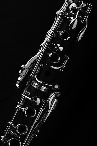 ♪♫ Music ♪♫ Music instrument details black and white ClarinetSharing!