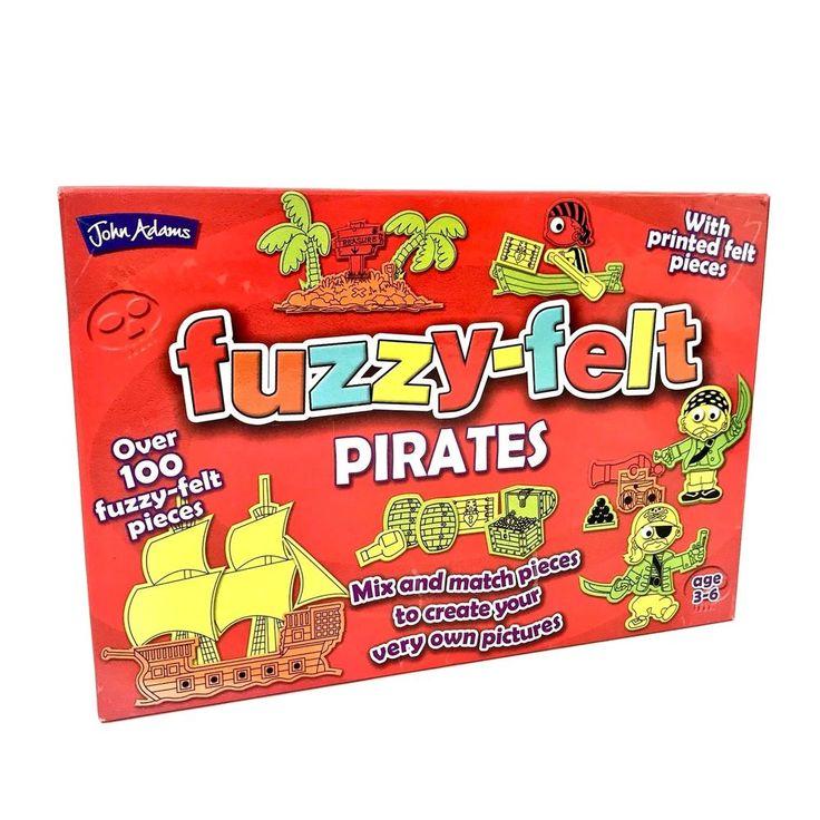 John Adams Fuzzy Felt Pirates 100 Plus Pieces Age 3-6 creative toys kids retro