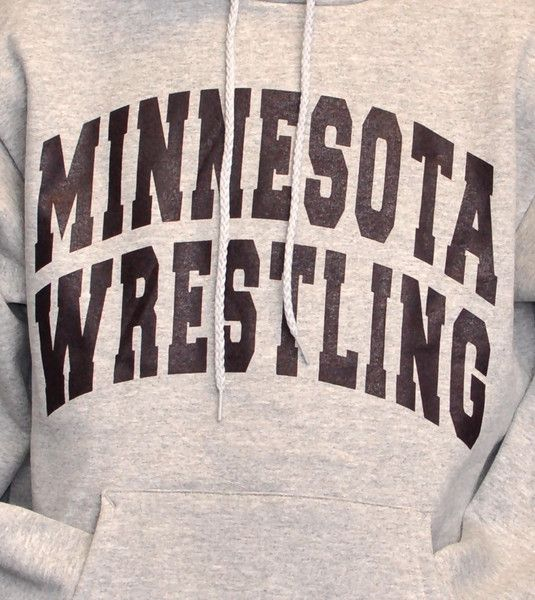 Size L - Minnesota Wrestling Sweatshirt - Hooded - Gopher Gear