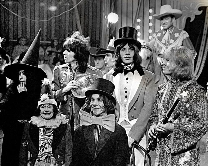 Randolph's Rock Icons at Windsor Library in Berkshire features photographs   from the Rolling Stones Rock and Roll Circus of 1968 and other 1960s and   1970s images - including some of John Lennon, Yoko Ono, The Who and Led   Zeppelin.