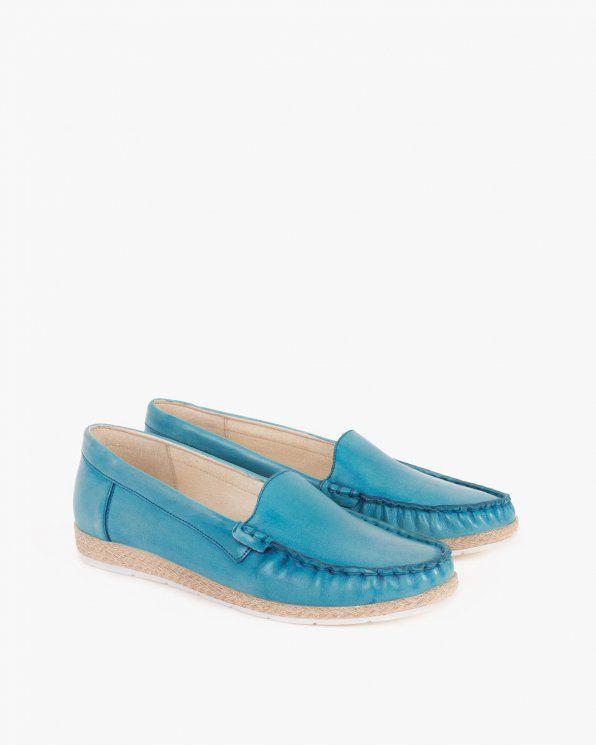 Mokasyny Damskie 045 1060 Niebie Loafers Shoes Fashion