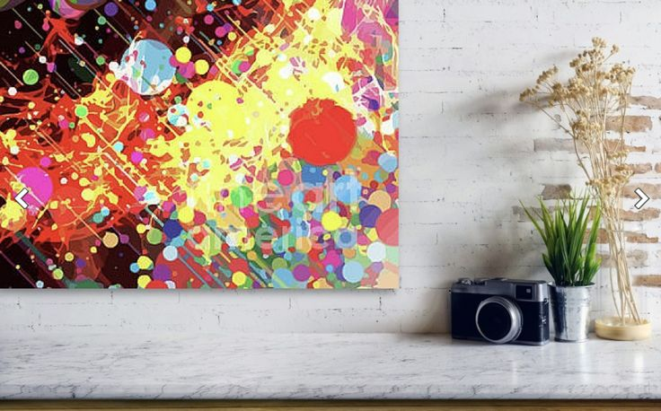 I'm not sure if a small planet has just exploded or a new one is being born. I wonder if there's any noise? There's certainly plenty of action! But what is it?  I thought as a canvas this could look pretty dynamic in the right place. A great conversation starter perhaps?