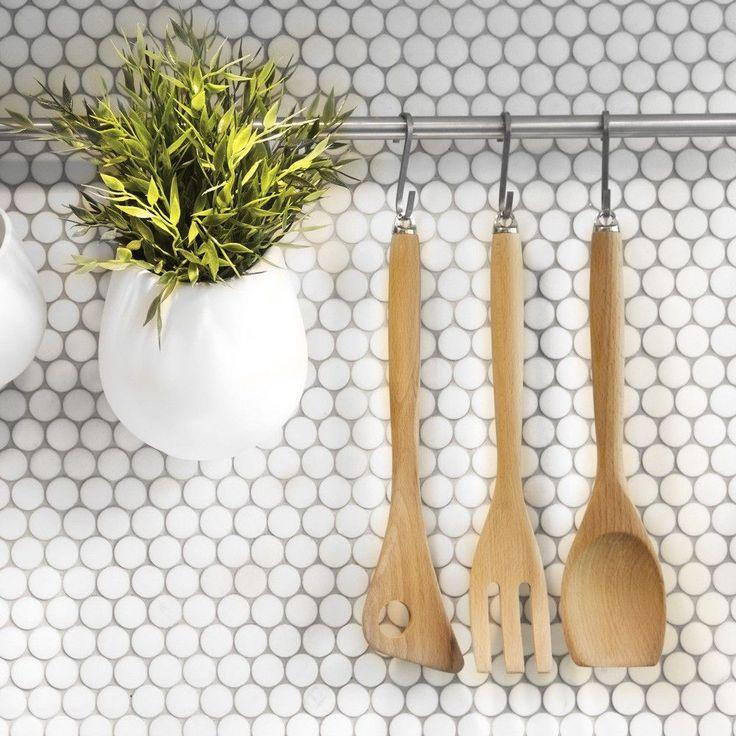 Circular White Matt Mosaic Tiles Bijou Circular White Mosaic Tiles 320x300x4mm Tiles