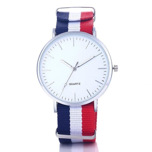 New hot style fabric strap watch Brife women dress quartz watch fashion multicolor Flag Watches popular watch clock hour relojes