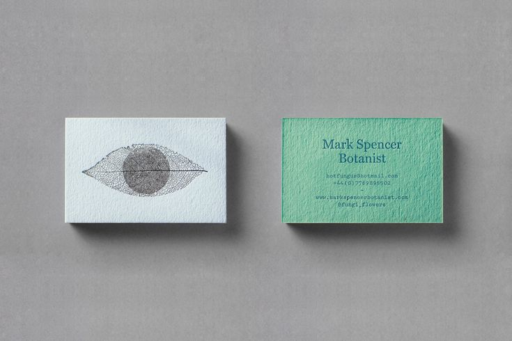 Branding for Mark Spencer, a Forensic Botanist #graphic #design #brand #identity #stationery #businesscard