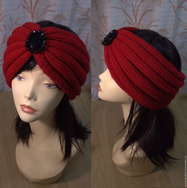 Купить Повязка / чалма - комбинированный, повязка на голову, повязка, чалма, шапка, шапка вязаная