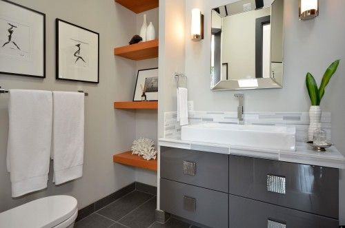 Picture of Contemporary Bathroom Vanity Sinks to Complete Your Small Bathroom