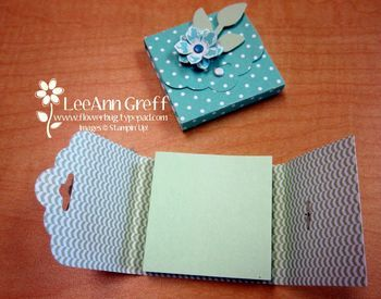 Stampin Up - Scalloped Tag Topper Post-It Holder
