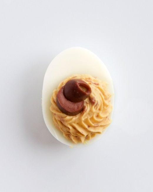 Deviled Eggs // Olive-Garlic Deviled Eggs Recipe