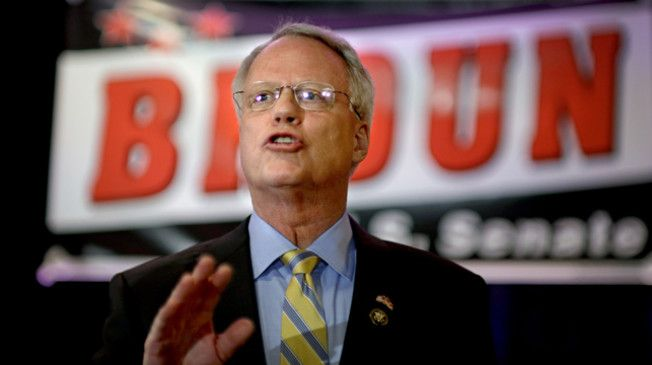 """Rep. Paul Broun's (R-GA) Senate campaign is out with a new ad hitting his primary opponent Rep. Jack Kingston (R-GA) for saying that it wouldn't be the """"responsible"""" thing to do to let Obamacare collapse on its own."""