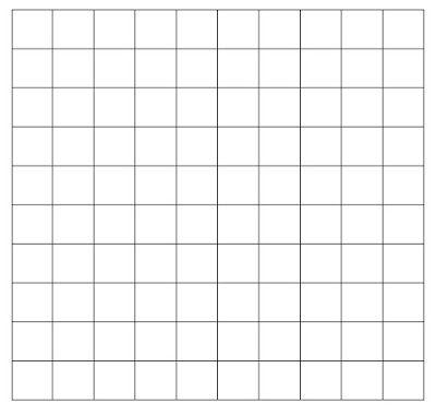Mathe ist einfach: leere Hundertertafel zum Ausdrucken