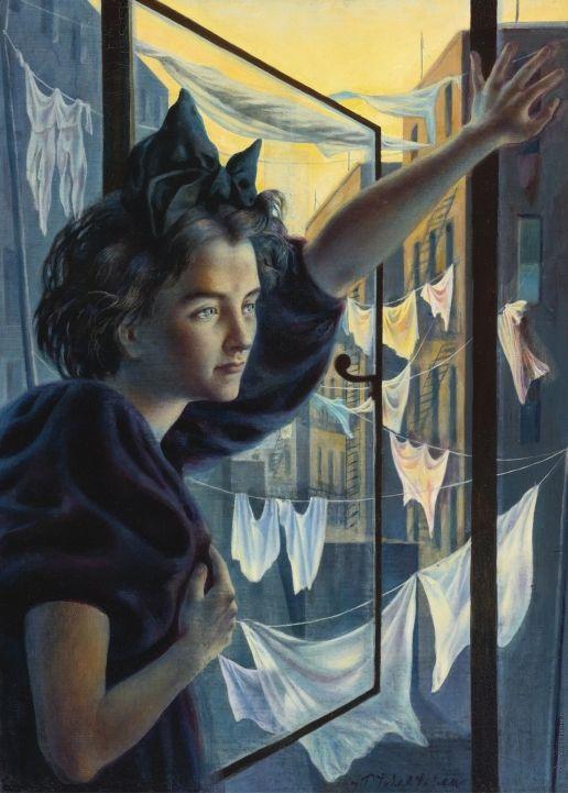 Челищев П. Ф. Женщина у окна  Челищев Павел Федорович [1898—1957] Женщина у окна.