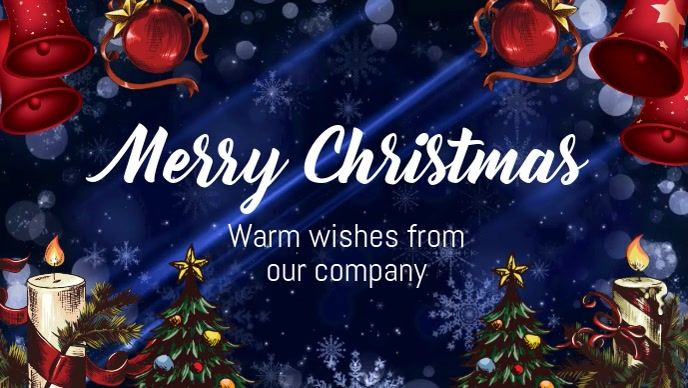 Merry Christmas Online Greeting Cards Christmas Poster Social Media Template