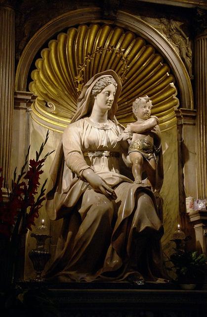 Rom, Sant'Agostino, Madonna del Parto von Jacopo Sansovino by HEN-Magonza, via Flickr