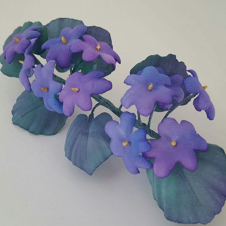 Silk Wild Violets for hair www.cameliavlad.ro