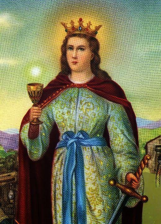 Bendita Santa Bárbara, te invoco em nome de Deus todo poderoso, para que me ajudes a resolver (pedir o desejado). Não quero guerra ...
