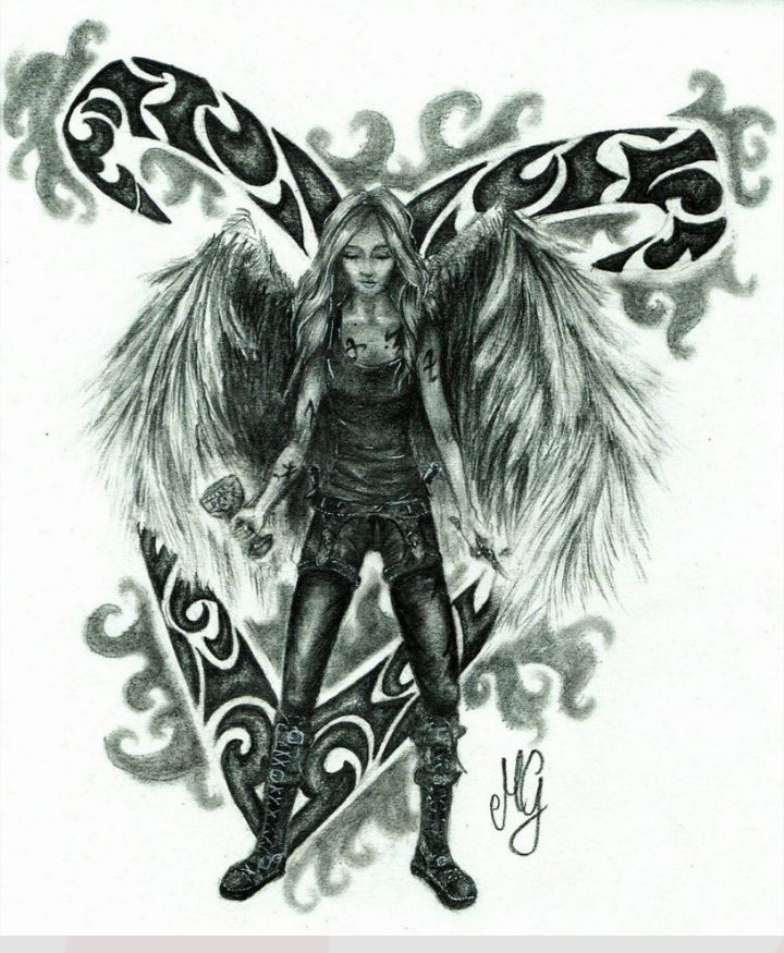 Clary Fairchild with angelical power (rune)