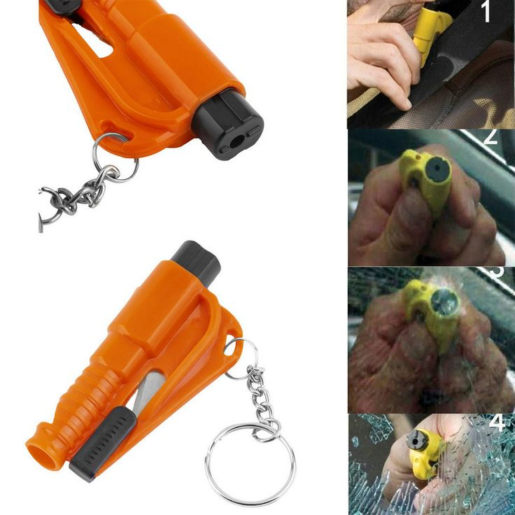 3 in 1 Mini Car Window Breaker Emergency Safety Hammer survival knife with Chain glass breaker tool cutter navajas supervivencia