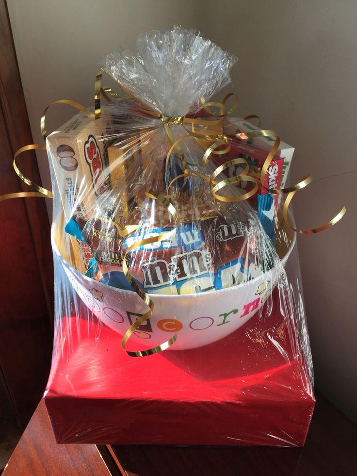 Movie theme bridal shower gift basket. Movie trivia game ...