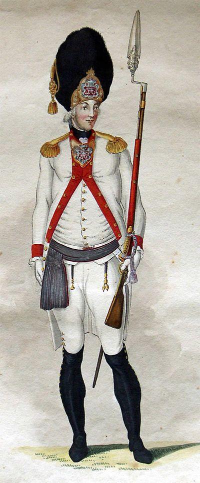 Grenadier-Offizier IR König um 1800
