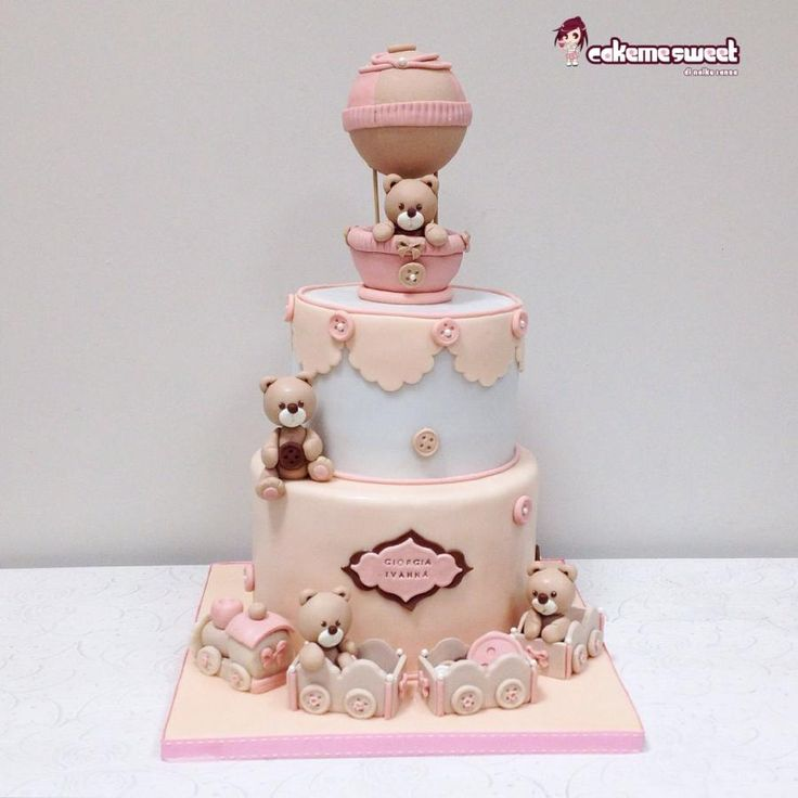 Teddy Bears for Christening - Cake by Naike Lanza