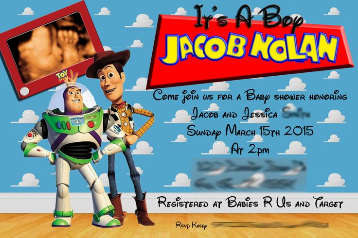 baby shower invitations toy story baby shower toy story woody and buzz