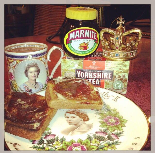 Yum! Yorkshire tea & Marmite on toast.