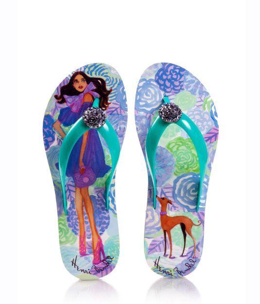 Izak Girl Flower Power Flip Flops - Designer Flip Flops - Women's Flip Flops - Thong Sandals